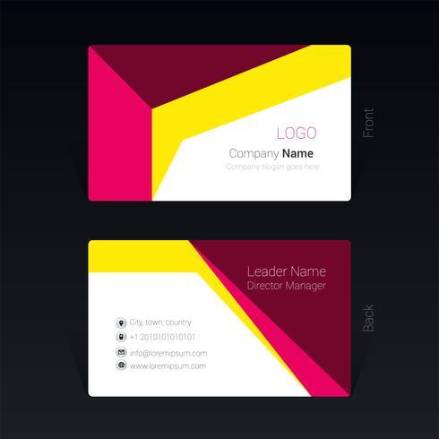 Vektor-Illustration Konzept des geometrischen Entwurfes der Visitenkarte