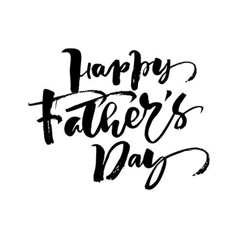 Glückliche Vatertagshand gezeichnetes kalligraphisches Beschriftungstextdesign. Isoladed Zitat der Vektorkalligraphieabbildung. Typografie-Poster. Verwenden Sie für Grußkarten, Tags, Poster