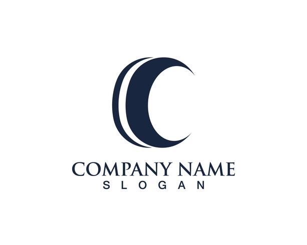 C Logo e simboli nero Template Design Vector