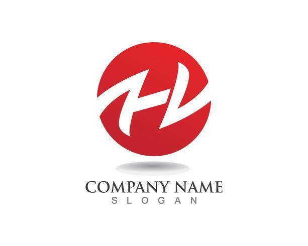 h letters bedrijfslogo en symbolen sjabloon
