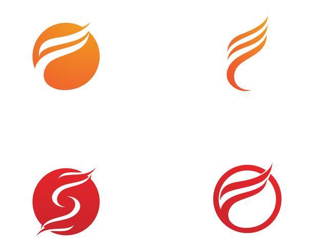 Fuoco fiamma natura logo e simboli icone modello ..