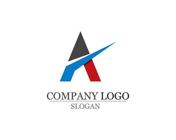 Een brief Logo Business Template Vector-pictogrammen