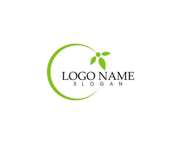 vettore di logo e simbolo di natura verde Vector