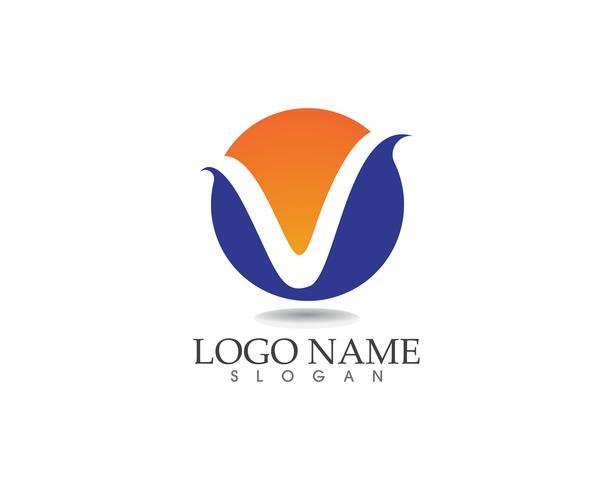 V-brieven bedrijfslogo en symbolenmalplaatje