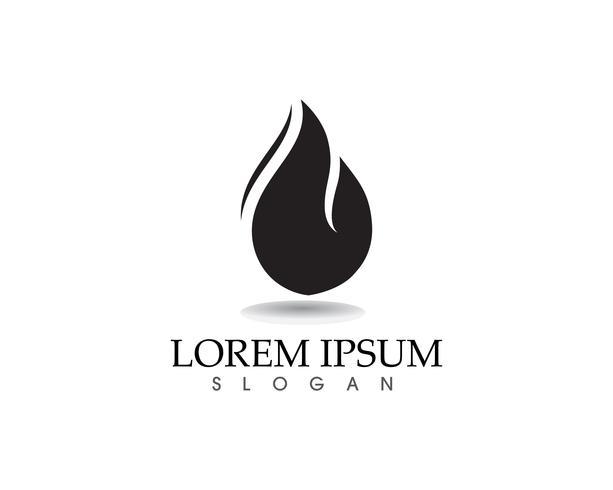 Aplicación de plantilla de iconos de fuego llama naturaleza logo y símbolos