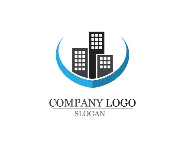 Apartment-Logo-Design für Geschäftsunternehmenszeichen