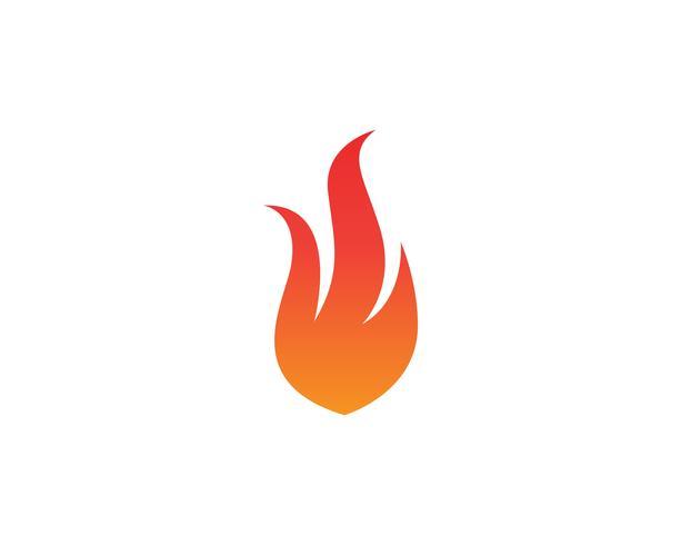 Logotipo de fogo e app de ícones de modelo de símbolos