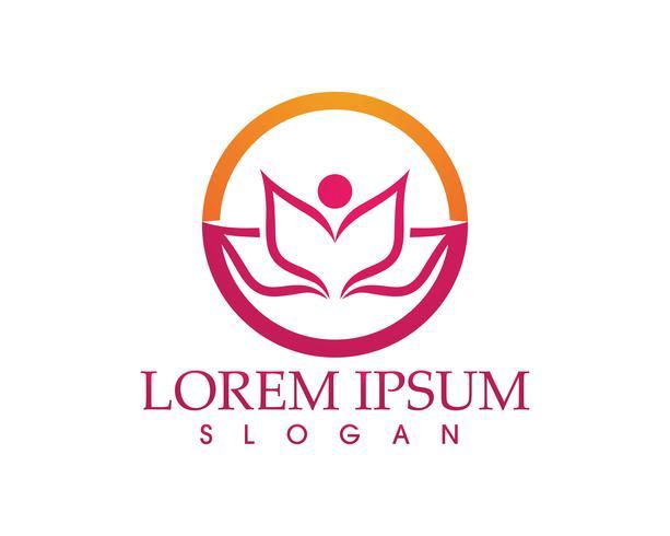 Signe de fleur de lotus pour bien-être, spa et yoga