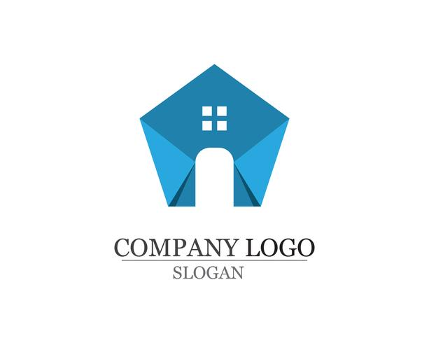 home sweet home logo en symbolen pictogrammen sjabloon
