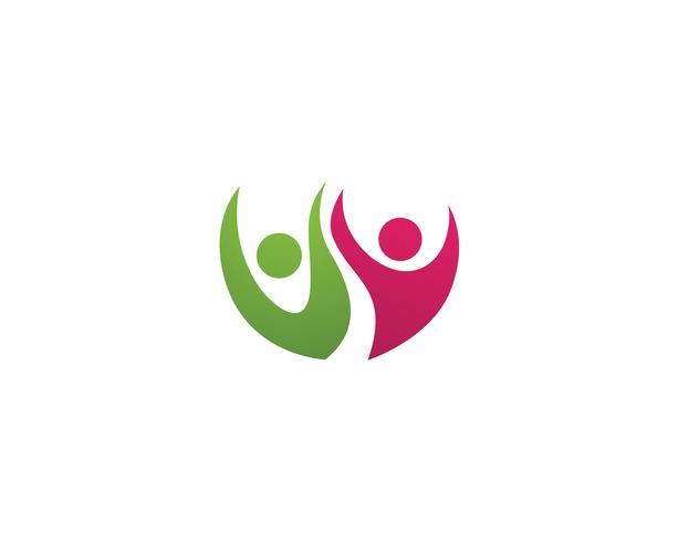 Gezondheid mensen verzorgen succes logo en symbolen