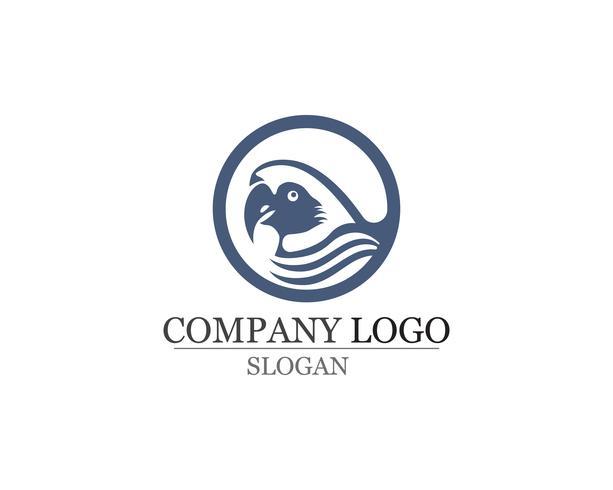 oiseau Logo et symboles Modèle vecteur couleur rouge