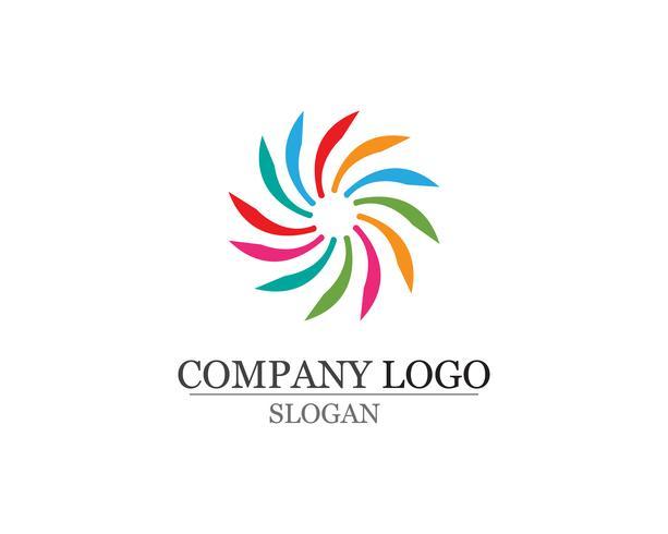 vortex cirkel logotyper och symboler mall ikoner app