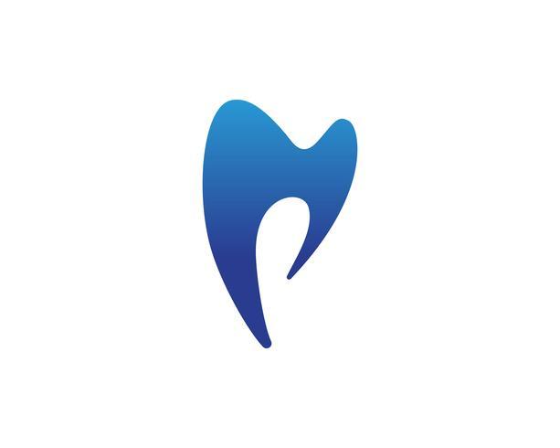 Tandheelkundige zorg logo en symbolen sjabloon pictogrammen app
