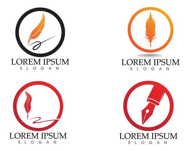 Schreibfeder schreiben Zeichen Logo Vorlage App Symbole