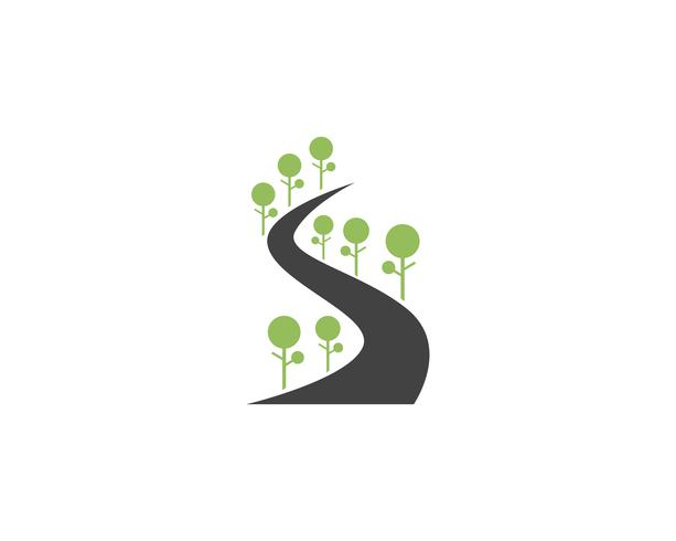 go green way  nature element vector icon