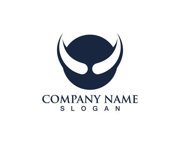 Bull horn logo symboler mall ikoner app