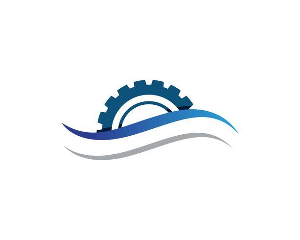 Gear Machine Template vector illustratie van de pictogramillustratie