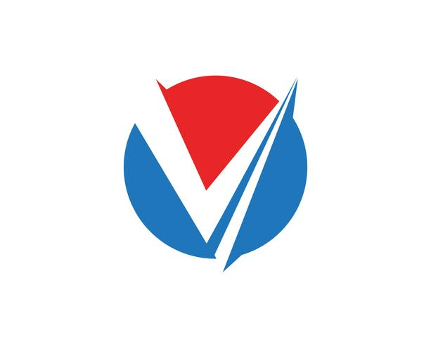 V logobusiness logo and symbols template