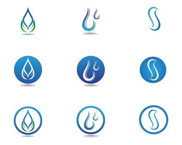 water drop Logo Template vector illustration design