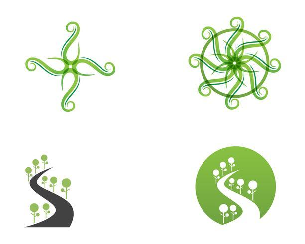 gå gröna blad ekologi naturelement vektor ikon,