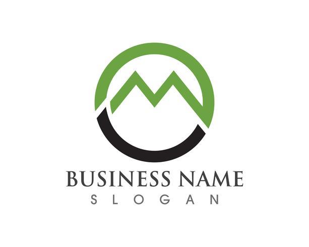 Icônes de logo M tel modèle de logos