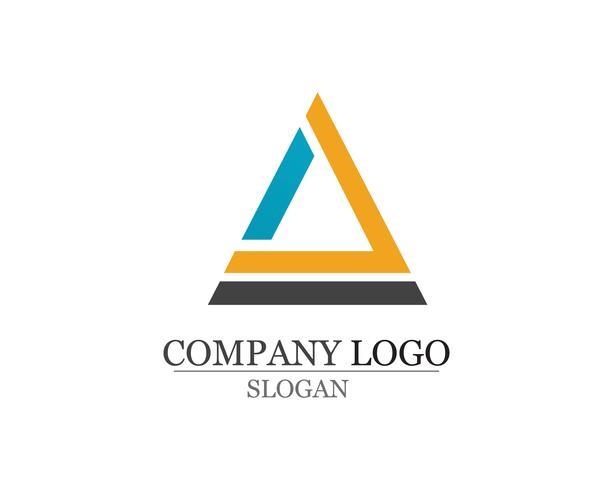Modello di progettazione logo aziendale astratto app