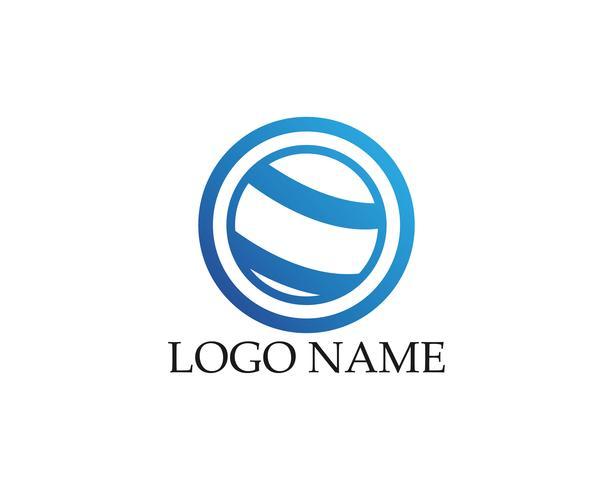 Plantilla de diseño de logotipo abstracto de negocios vector