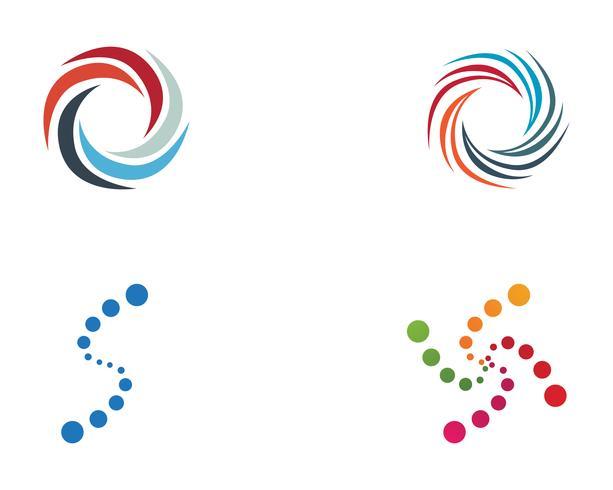Wirbel Kreis Logo und Symbole Vorlage Symbole