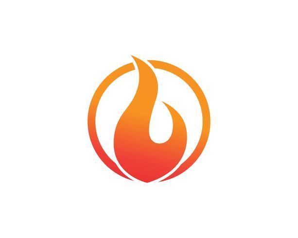 Incendie logo et symboles modèle app icônes