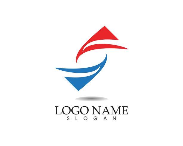 Teknologi cirkel logotyp och symboler Vektor