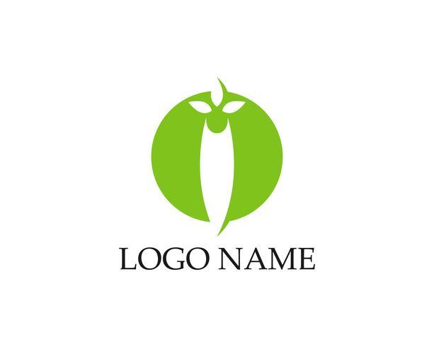 Loghi dell'icona di vettore dell'elemento di natura verde ecologia foglia