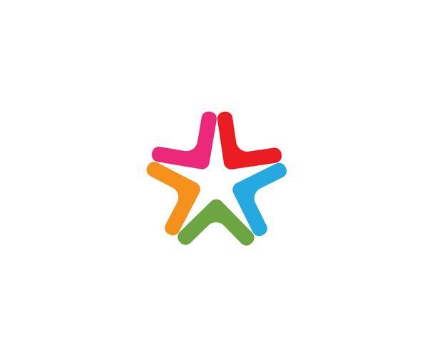 Icona di vettore di Star Logo Template