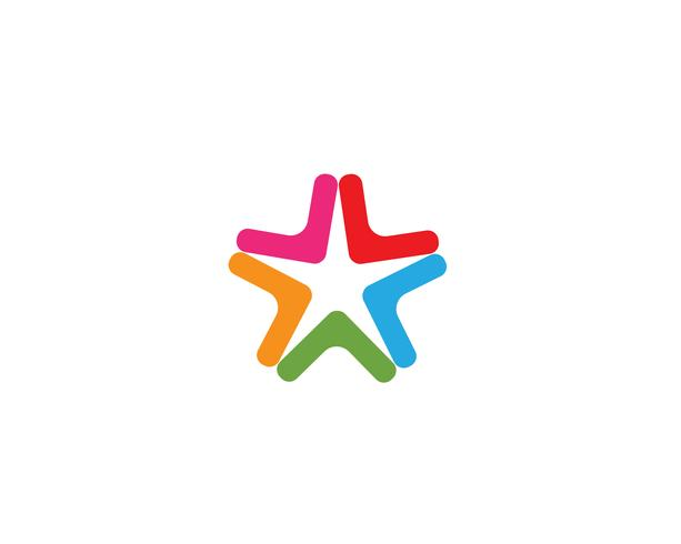 Ster Logo sjabloon vector pictogram
