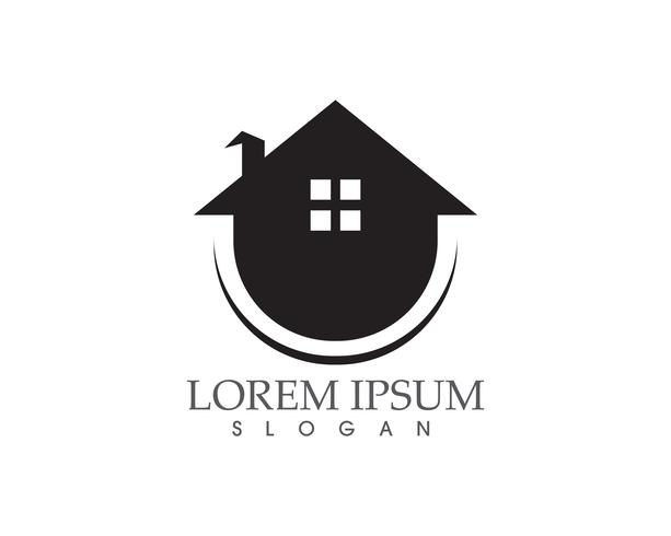 modèle d'icônes logo et symboles maison bâtiments .. vecteur