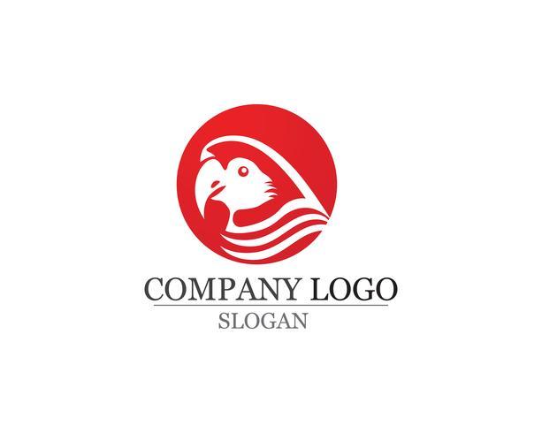 uccello Logo e simboli Modello vettoriale colore rosso