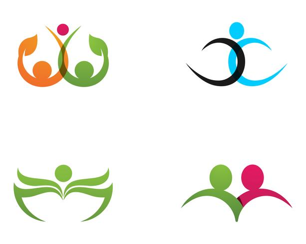 family care love logo and symbols template