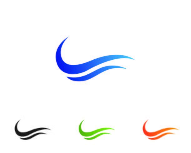 Icone del modello di logo e simboli di onda app vettore