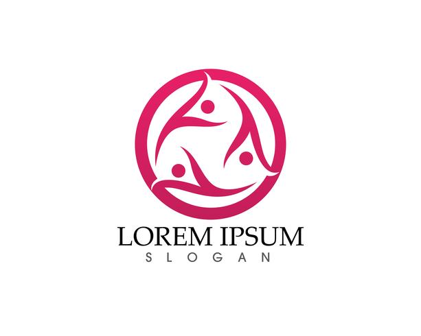 Logotipo de amor familiar y plantilla de símbolos ..