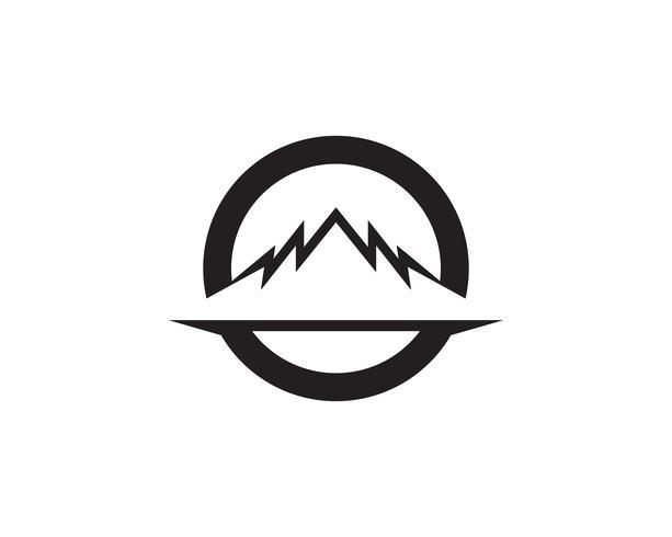 App Logo d'icônes vectorielles en montagne Logo ..