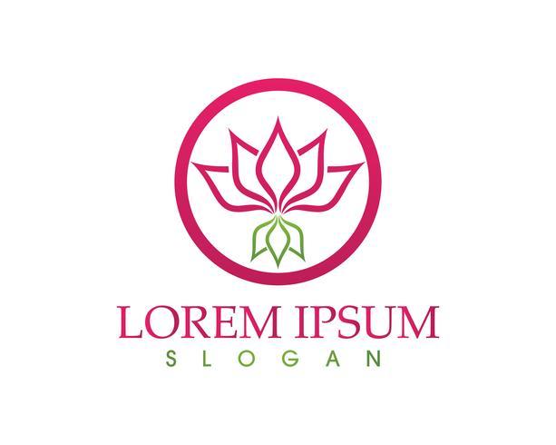 Lotusbloembord voor wellness, spa en yoga