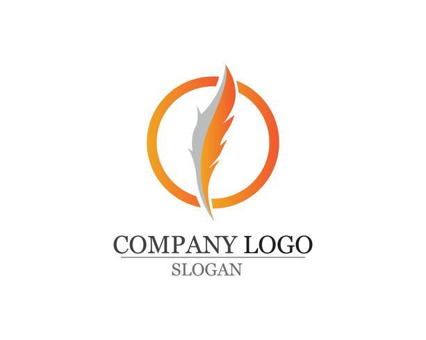 Stylo plume écrire signe logo modèle app icônes vecteur