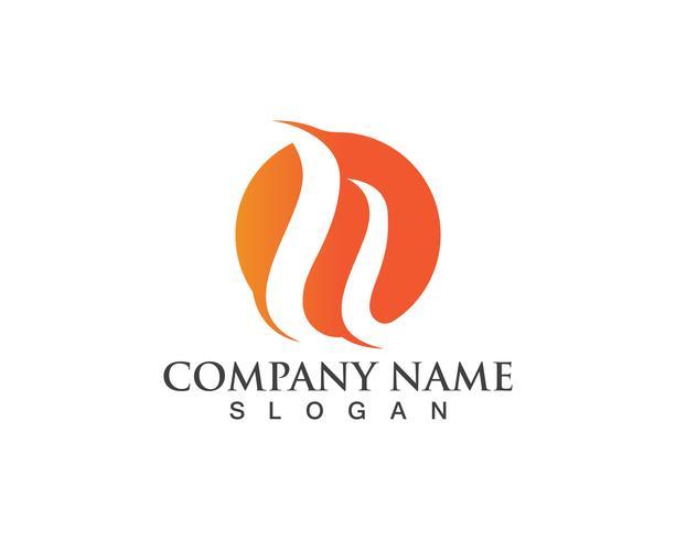 Icono de vector de plantilla de logotipo de llama de fuego Logotipo de petróleo, gas y energía