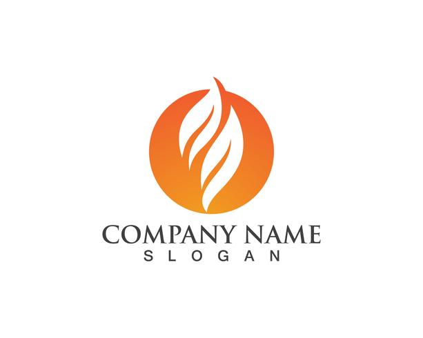 Fire flame Logo Template vector icon Oil, gas and energy