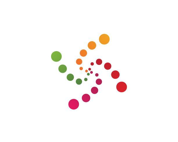 vortex circle logo and symbols template icons