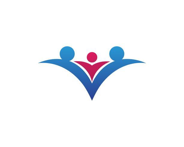 familie liefde zorg logo en symbolen sjabloon