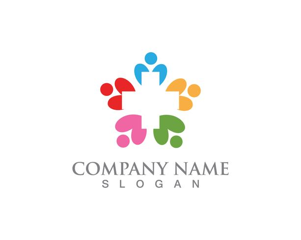 Menschen sorgen Logo und Symbole Vorlage App