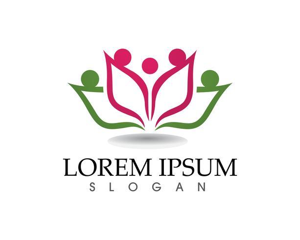Lotus Flower Sign för Wellness, Spa och Yoga vektor