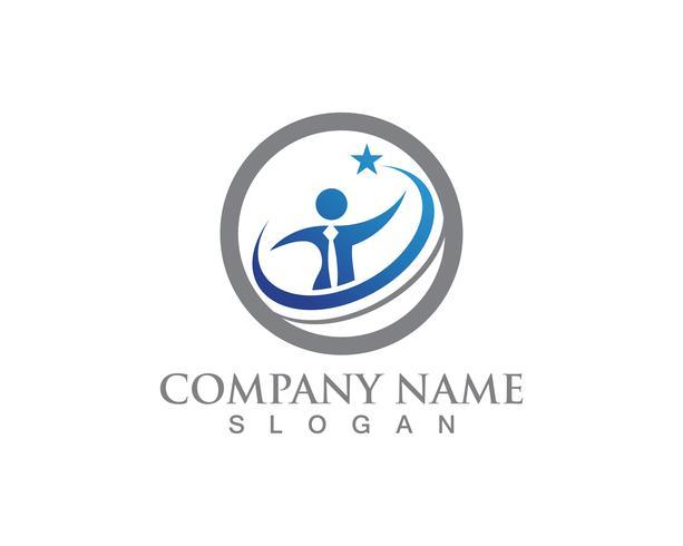 mensen geven logo en symbolen sjabloon app