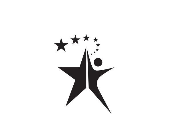 Ster logo sjabloon vectorillustratie pictogram