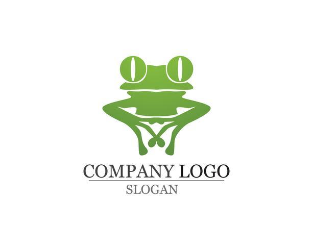 groene kikker symbolen logo en sjabloon vector